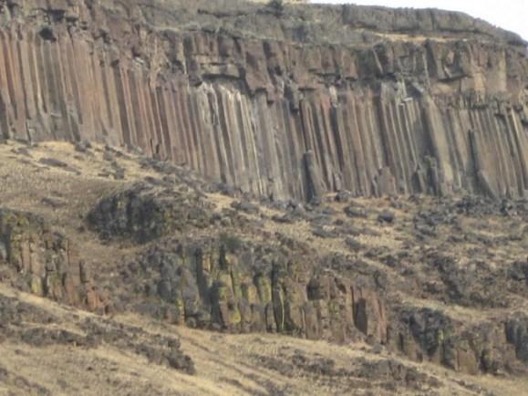 Basalt columns near Klammath Falls, Oregon
