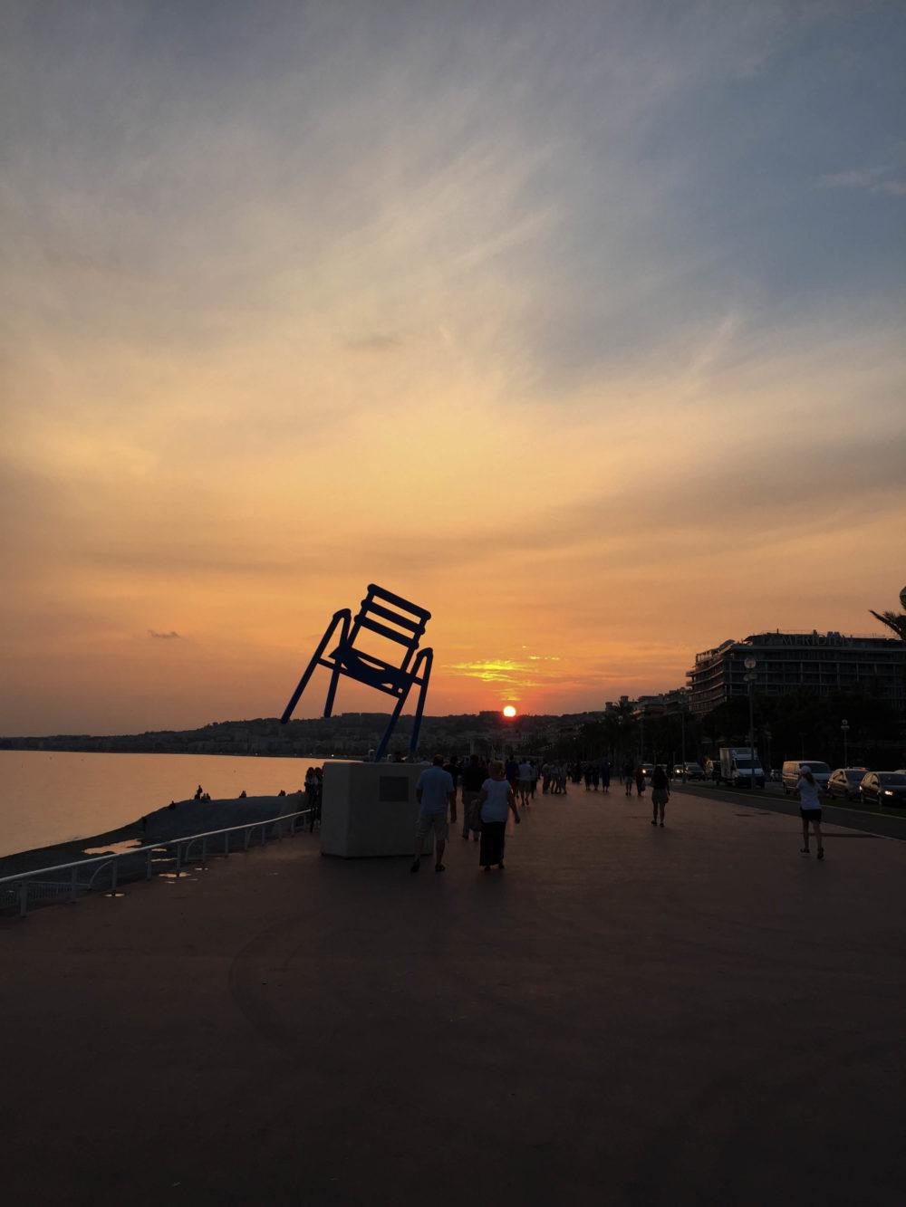 Coucher de soleil promenade des anglais Nice