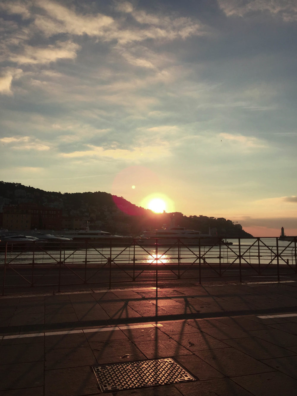 Port de Nice coucher de soleil