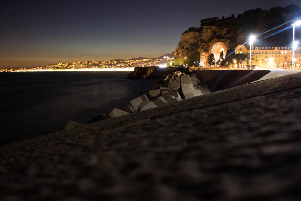 port de nice nuit