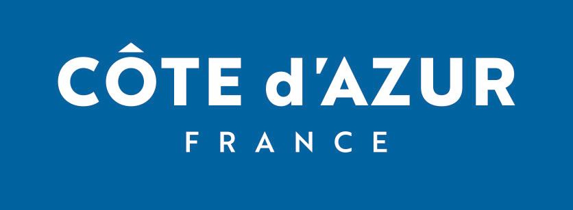 Logo-marque-COTE-DAZUR-FRANCE-sur-fond-bleu