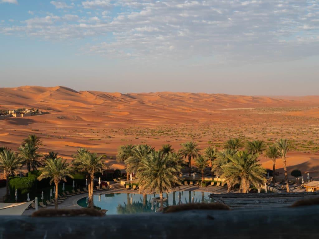 lever de soleil sur les dunes qui rougeoyent