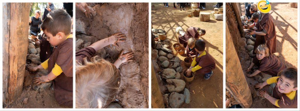 Parc Galea: atelier torchi et construction de maison préhistorique