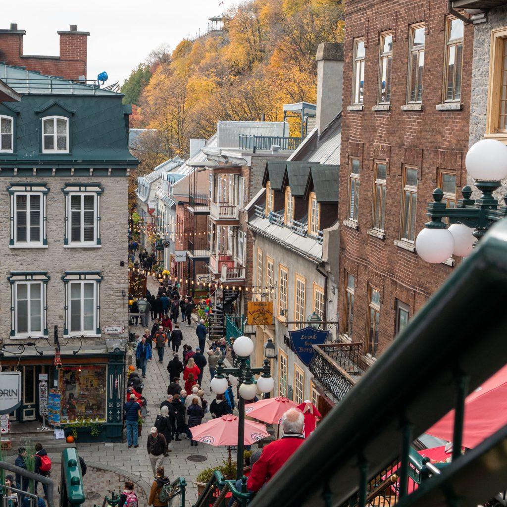 Visiter Québec en famille, la rue du petit champlain