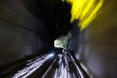 Tunnel light trails