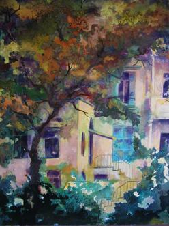 achrafieh-old-house_oil-and-acrylic_110x90_20093