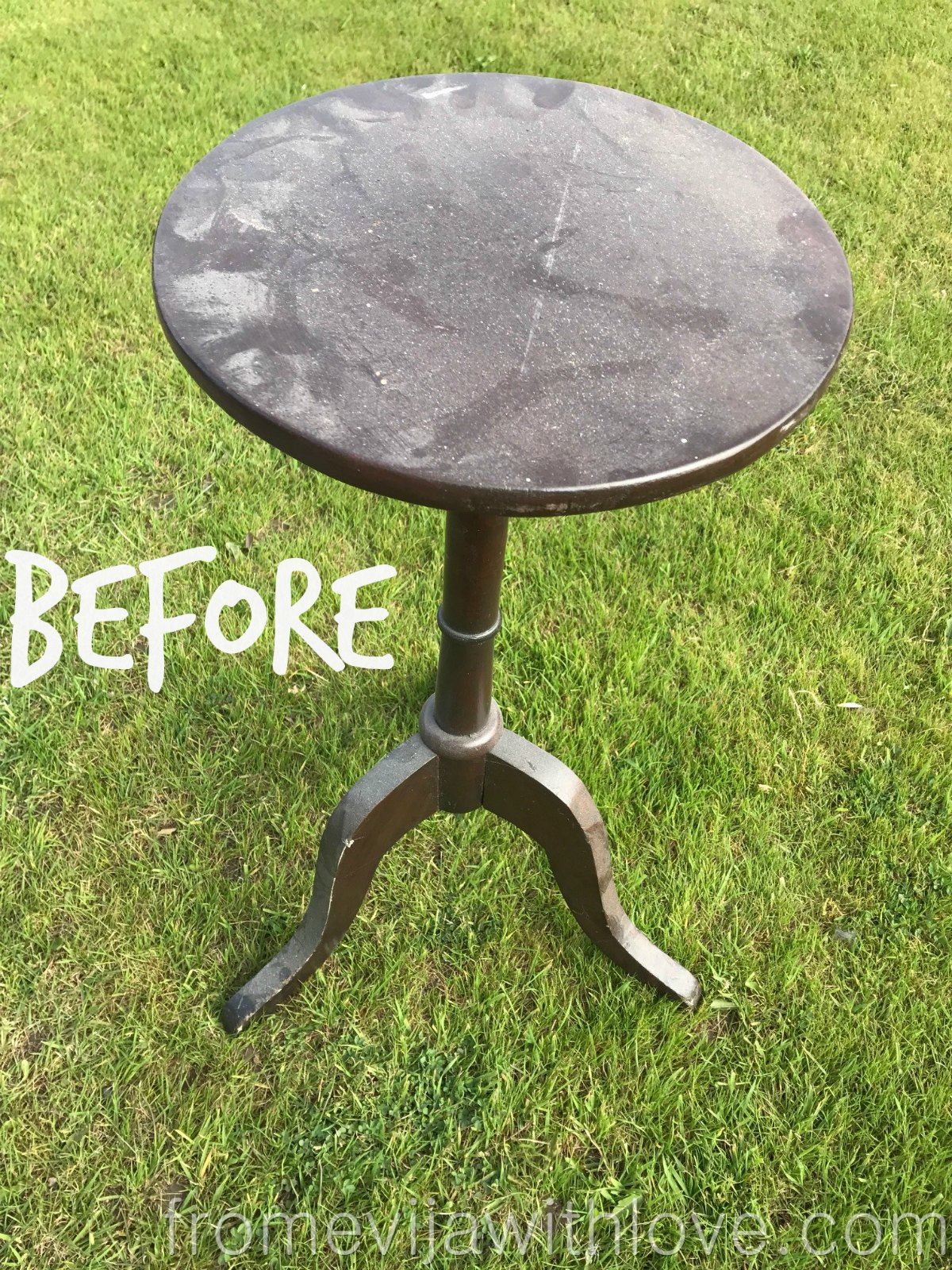 thrift store side table makeover | Side