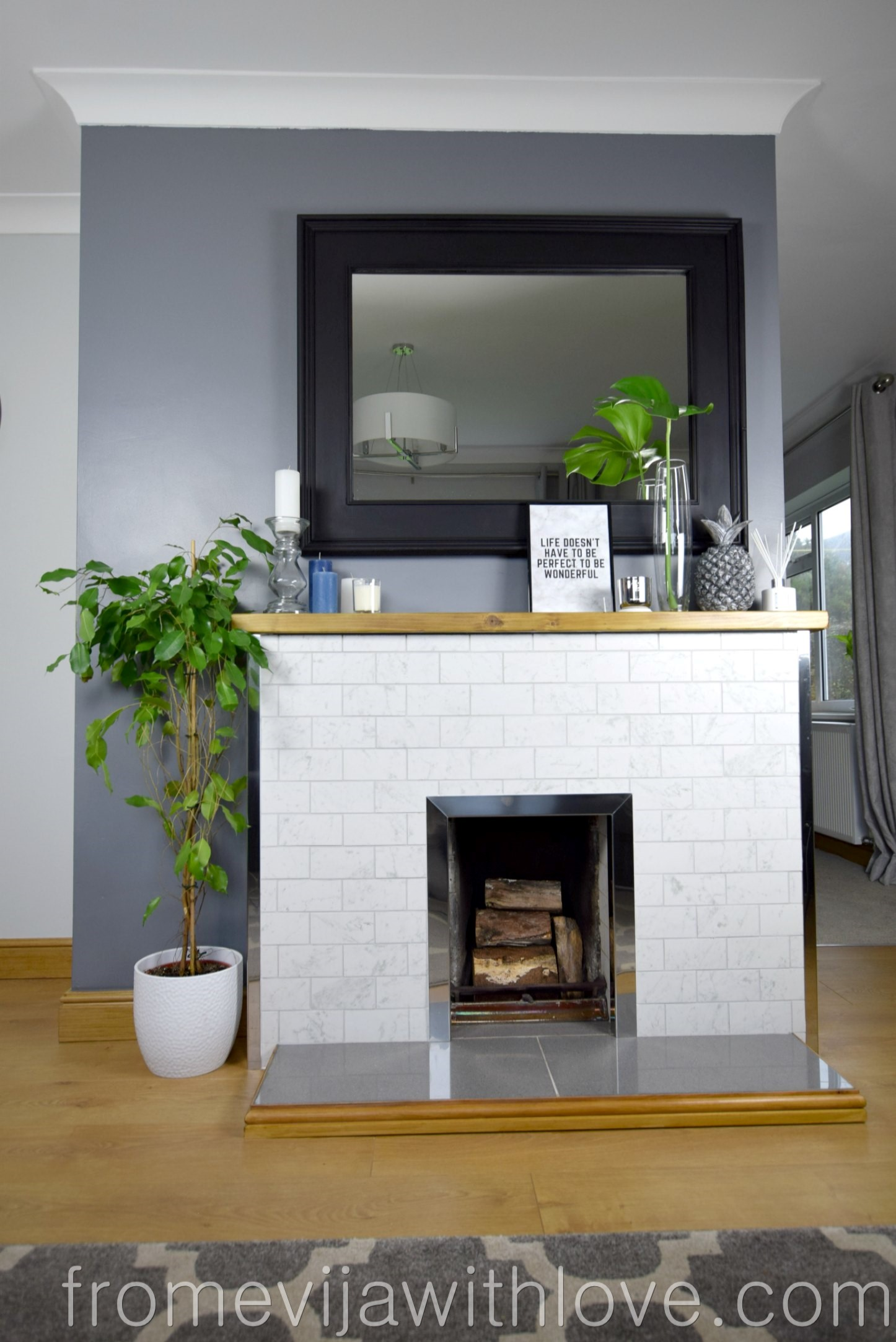 Reveal How We Modernised Our Old Stone Fireplace On A Budget From