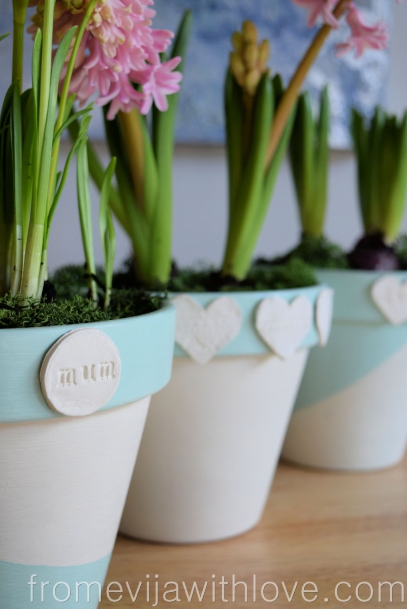 DIY Spring Plant Pots - Mother's Day Gift Idea