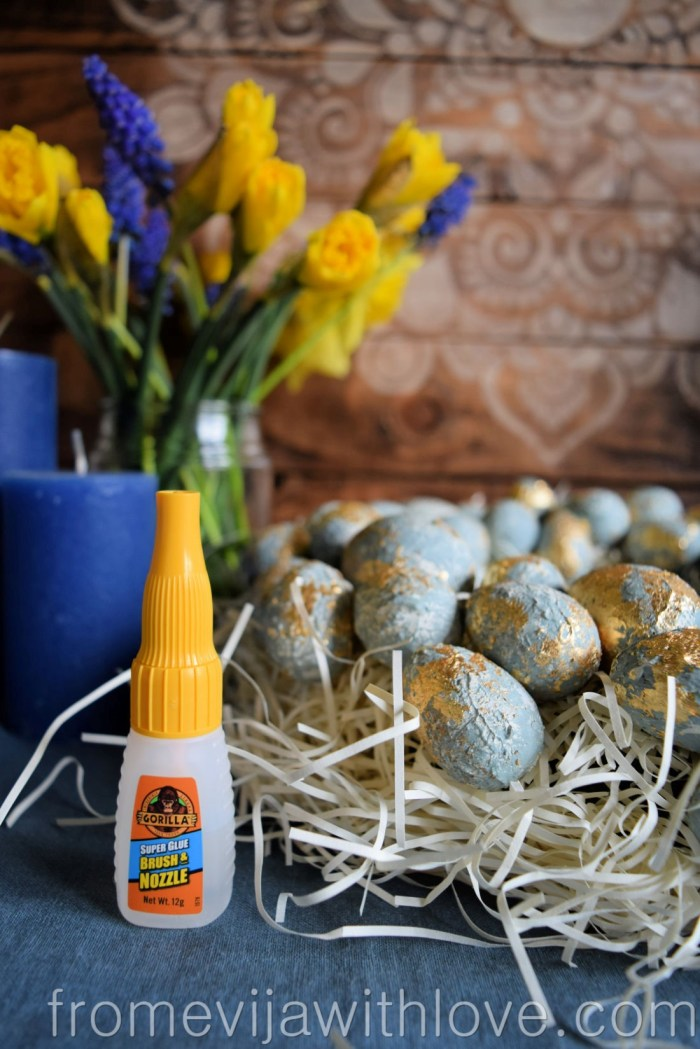 make your own textured easter egg wreath gorilla glue