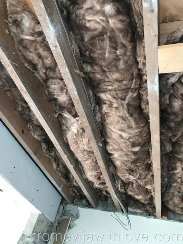 Kitchen Renovation Diaries - load bearing wall - insulation