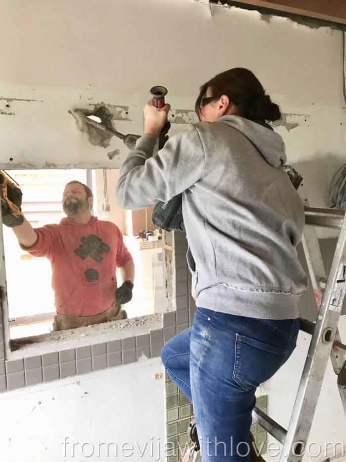 Kitchen Renovation Diaries - load bearing wall - removing wall DIY