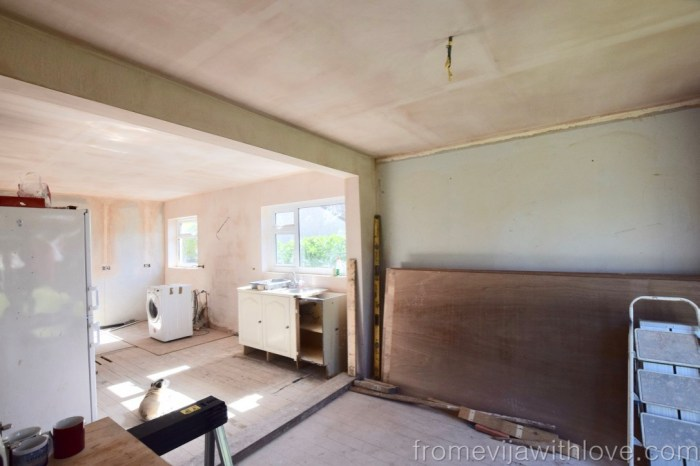open plan kitchen concept - removing load bearing wall