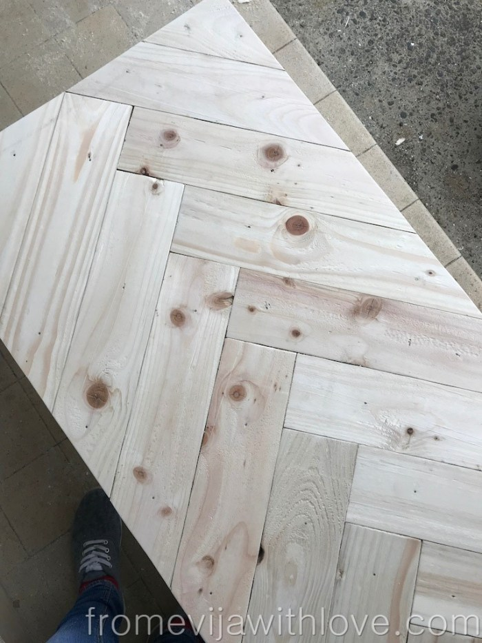 white wood grain DIY