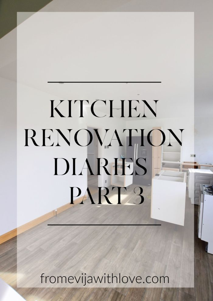 kitchen renovation part 3 - building cabinets and update