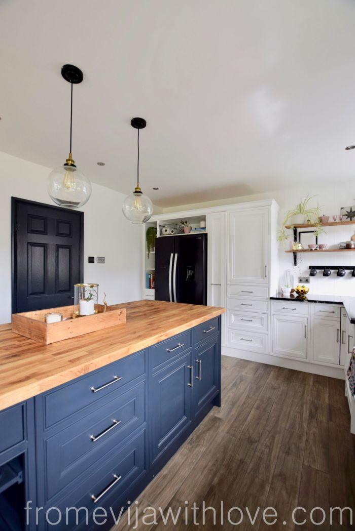 Kitchen renovation DIY project kitchen island Railings