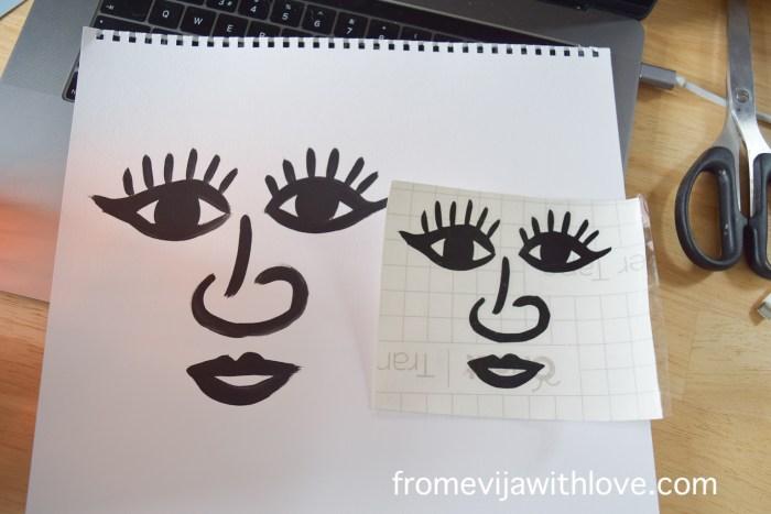 transfer face design on cricut maker