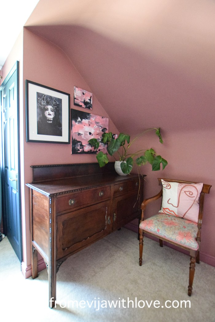 spare bedroom makeover and chair