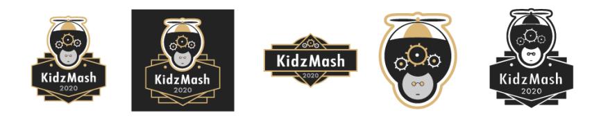 KidzMash logo variations