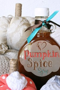 Homemade Pumpkin Spice Syrup