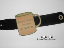 Black Rib Stitch Mug Cozy