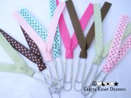 Polka Dot Paperclip Ribbon Bookmarks