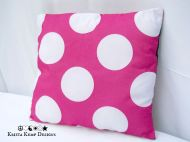 Double Sided Polka Dot Accent Pillow