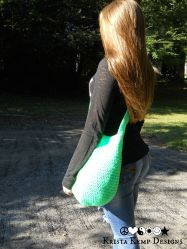 Neon Green Crochet Market Bag