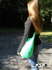 Neon Green Crochet Market Bag