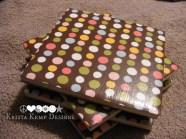 Brown Polka Dot Ceramic Tile Coasters