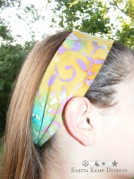 Multicolored batik hair scarf