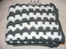 Oversized crochet granny stitch baby blanket