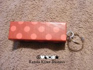 Red Polka Dot Jenga Block Keychain