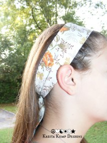Vintage style floral hair scarf
