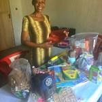 Teacher Madam Rachel stocked with lesson plans/ supplies