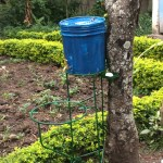 Outdoor hand-washing station installed