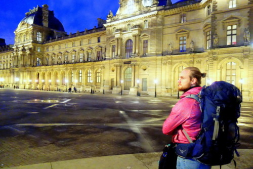 Backpacking in Paris