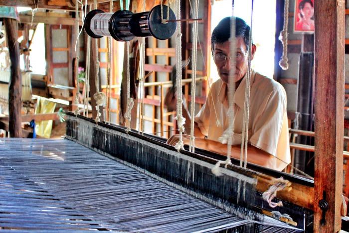 textile factory myanmar inle lake