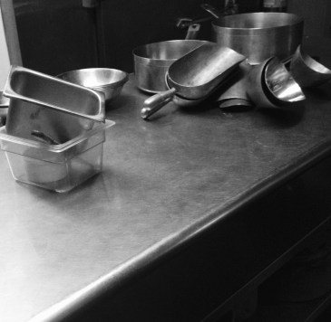 Chiaroscuro and kitchen utensils