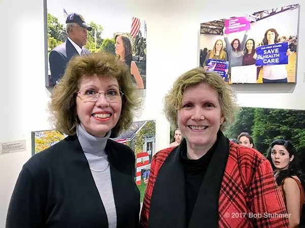 Huntington, New York, USA. March 5, 2017. BETH E. LEVINTHAL, an HAC Member at Large , and ANN PARRY at Opening Reception of