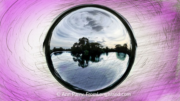 Photo Illustration: Cammanns Pond in Merrick, New York, USA, © Ann Parry, FromLongIsland.com