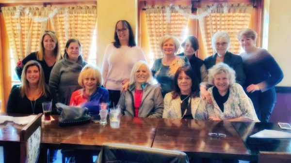Massapequa Park, NY, U.S.  Front Row, Grand Girls L-R: MELISSA WILLIAMS, NANCY JACOB, JOYCE CHINKSY, MICHELLE GAGNON, and ANN PARRY; Back row, L-R: BARBARA HIRTEN, ROSANNE WALKER, CHRISTINE LATORRE, RITA CALZETTA, MARY ELLEN GASPAREC, KATHY WARD HAGGERTY and JANE KLINE pose for group photo at Asian Moon restaurant during annual reunion lunch.