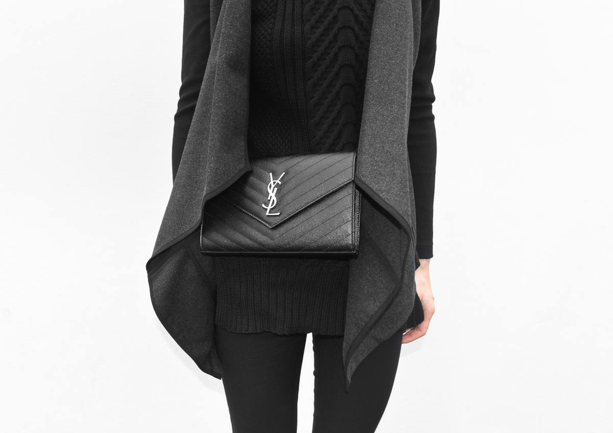 Saint Laurent YSL Mini Quilted black Bag