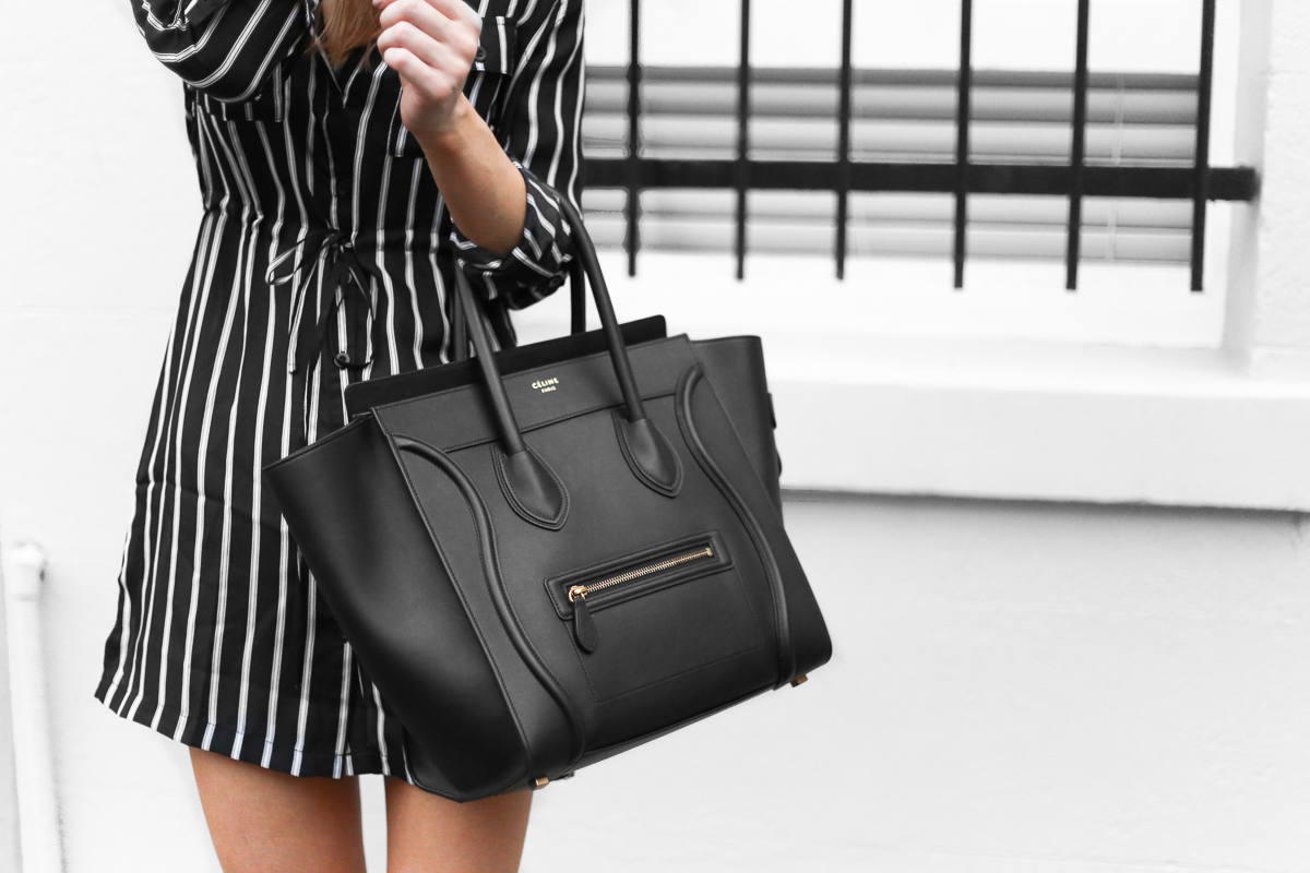 Celine Mini Luggage bag black