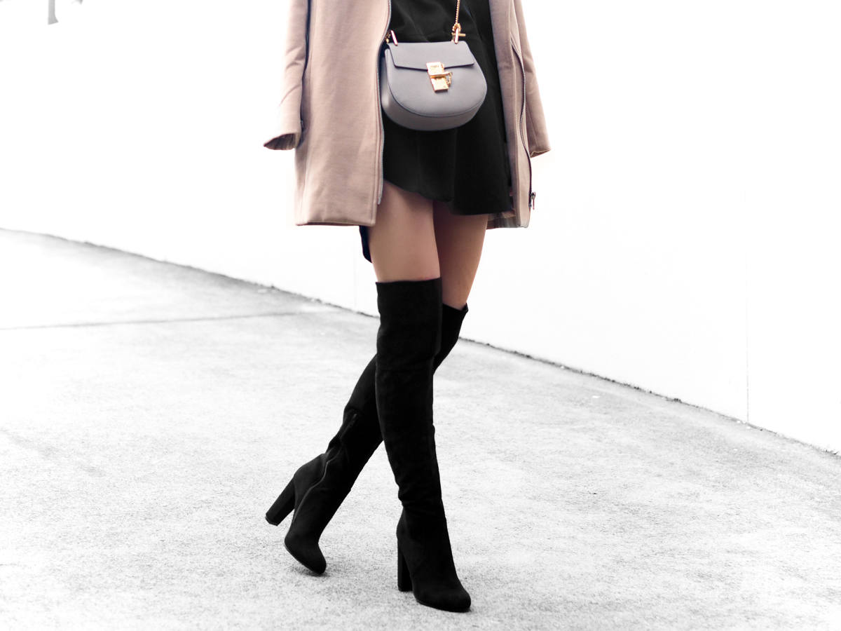 Chloe Drew Mini Bag Over the knee boots outfit