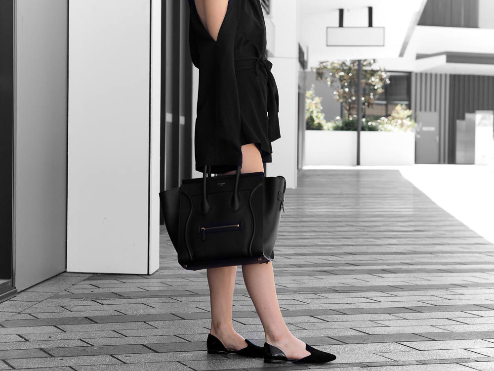 All Black Minimal Weekend Outfit Fashion Blogger