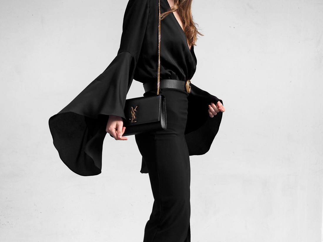 Shona Joy Delilah flare sleeve bodysuit