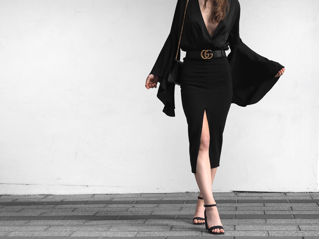 Gold Gucci Belt Outfit Fashion Blogger
