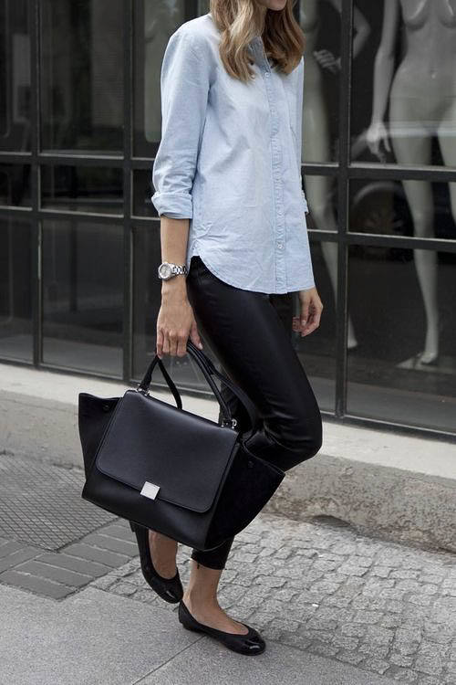 Celine Trapeze Bag outfit street style