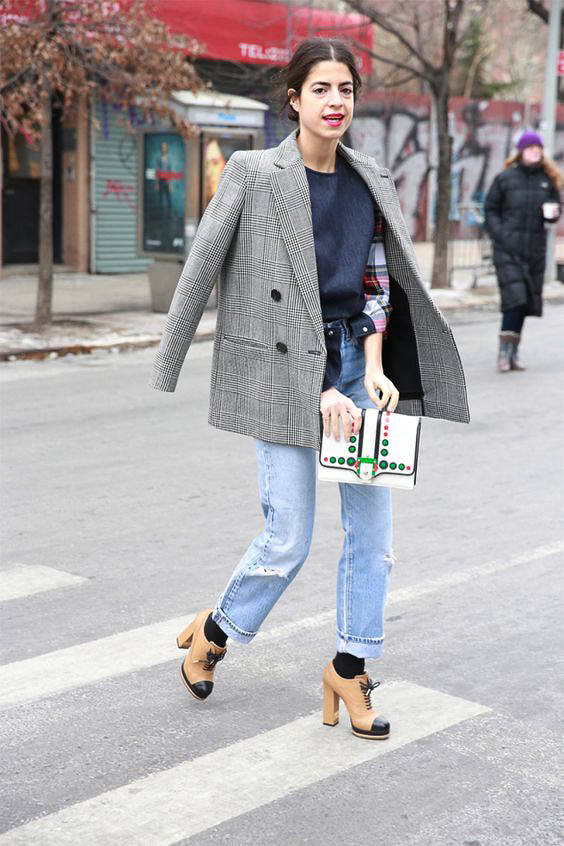 How to wear an oversized blazer street style